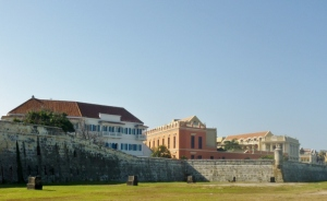 the wall protecting the old city, Cartagena