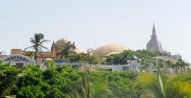 near Plaza de Aduana with San Pedro spire in the background, Cartagena