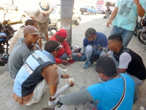 craps game, Cartagena, Colombia