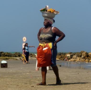 vendor at Cartagena beach, Colombia