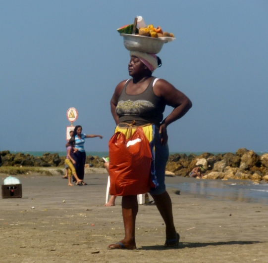 vendor at Cartagena beach, Colombia