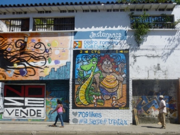 street art in Barrio Getsemani, Cartagena
