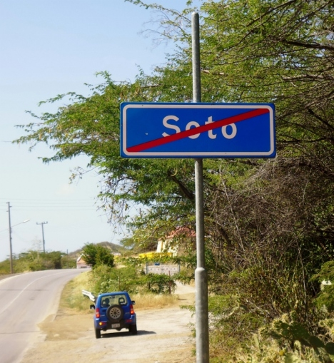 Leaving the town of Soto