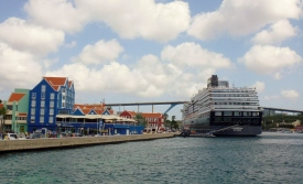 cruise ships moored in harbor