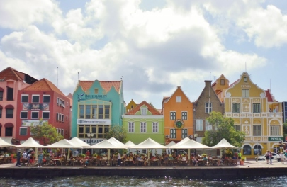 colorful businesses at Willemstad