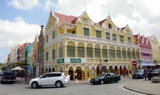 building alongside Willemstad waterfront