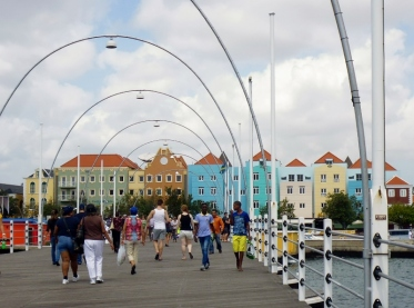 pontoon bridge at Willemstad