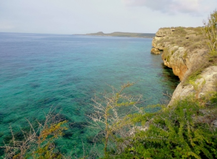 hiking along the coast - western side of island