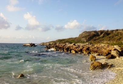 coastline of western shore of island