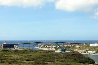 Queen Juliana Brige - view from Fort Nassau