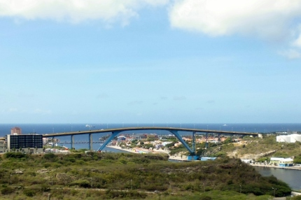 Queen Juliana Brige - view from Fort Nassau