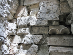 Museum of HIstory of Barcelona - rubble in fill of wall