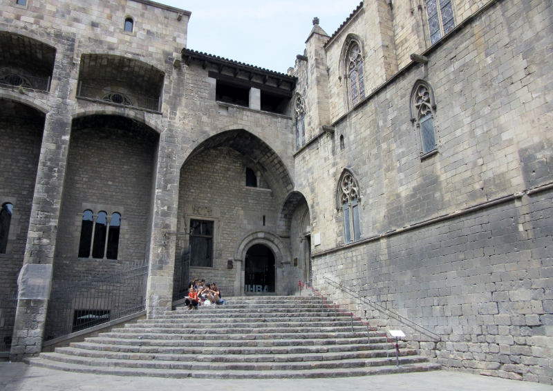 Museum of HIstory of Barcelona - the exit to the Gothic quarter