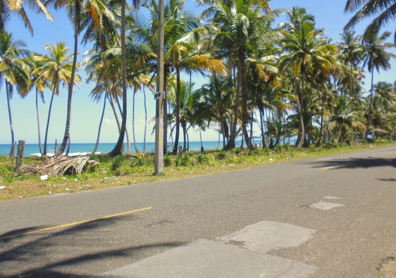 in the campo  - trip to Cabarete - bad stretch of road