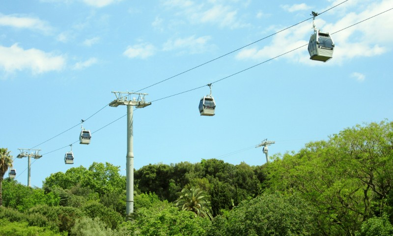 cable cars to Castell de Montjuic