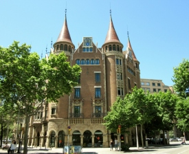 """""""House of Spikes"""" - 1905 Casa Terrades - Casa de les Punxes Barcelona, Spain"""