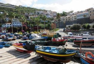 Camara de Lobos docks. Funchal, Madeira, Portugal.