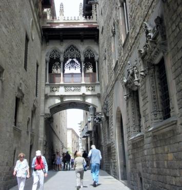 Gothic quarter in Barcelona, Spain