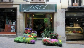 flower shop on street-Barcelona, Spain
