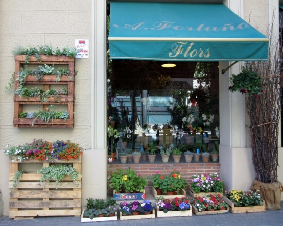 pretty flower shop - Barcelona, Spain