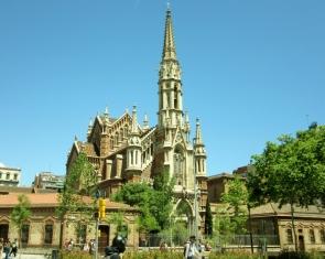 Cathedral near Sagrada Familia. Barcelona, Spain