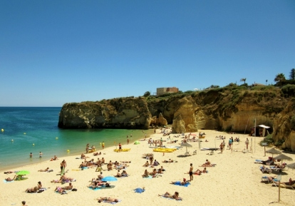 Beach scene - Atlantic, Lagos, Portugal