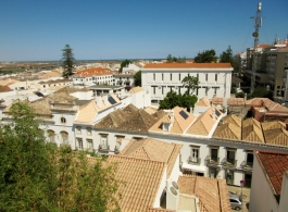 trussed roofs, Tavira, Portugal