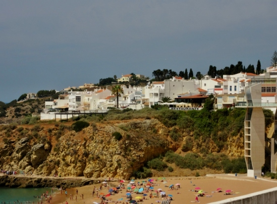 beaches and houses, Albufeira, Portugal
