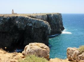 lighthouse and cliffs, Sagres, Portugal