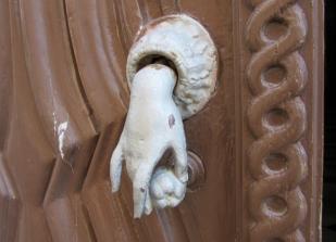 interesting door knocker, Tavira, Portugal