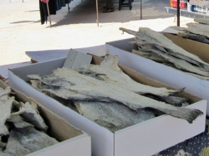 dried and salted cod fish, Paderne, Portugal