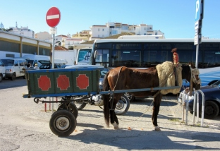 Gypsy wagon, Lagos, Portugal