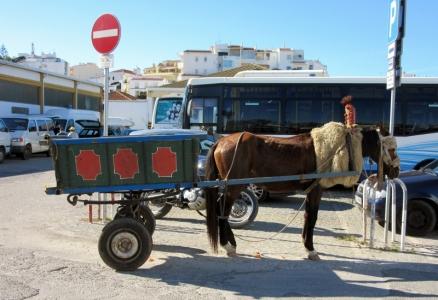 Gypsy wagon, Lagos, Portugal