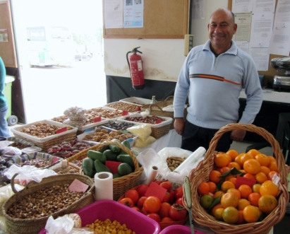 fruits, figs and nuts - farmers market in Lagos, Portugal