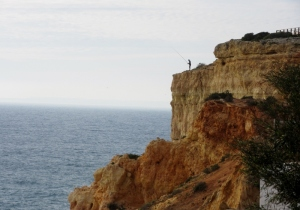fisherman on cliffs, Carvoeira, Portugal