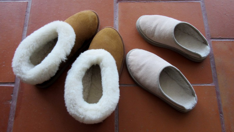 shearling slippers for Christmas