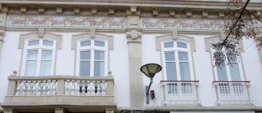 pretty tiles on house, Lagos, Portugal