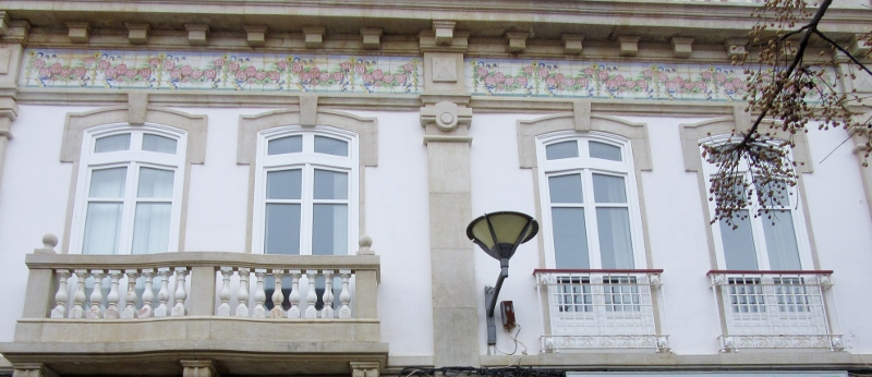 pretty tiles on house, Lagos, Portugal