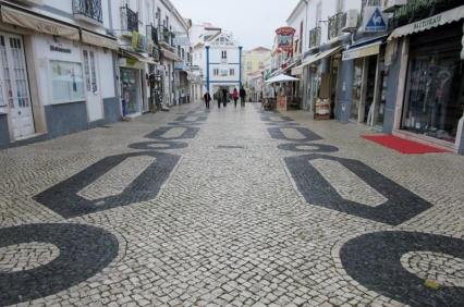 cobblestone design, Lagos, Portugal