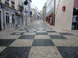 cobblestone tiles, Lagos, Portugal