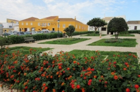 Village square in Vila do Bispo, Portugal