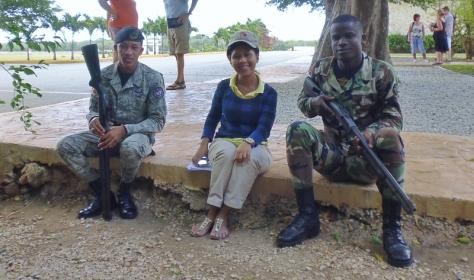 Soldiers at the Cueva de las Maravillas - caves - Dominican Republican