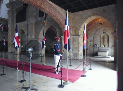 Santo Domingo - National Panteon - guarding tombs - Dominican Republican