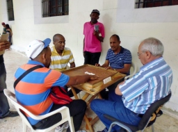 Santo Domingo - Dominos on El Dominican RepublicanConde-