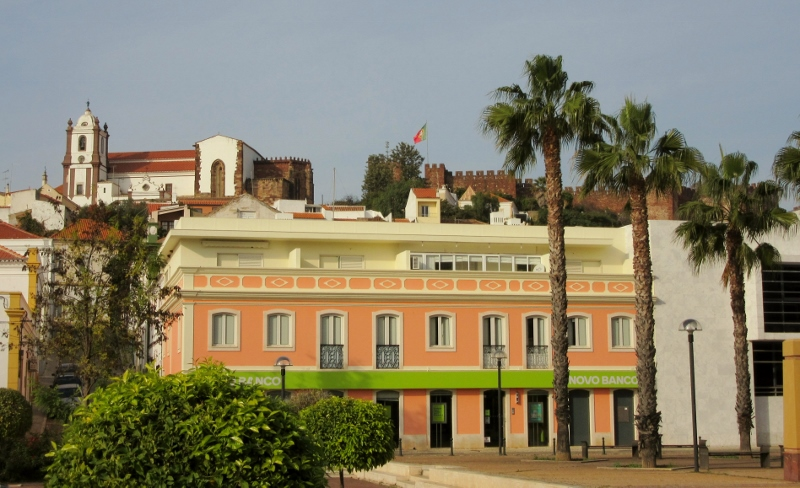 In the background - Old Cathedral on the left and Silves Castle on the right