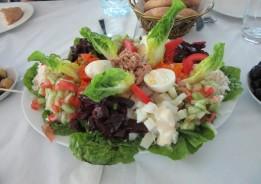 Moroccan salad - restaurant near Fez, Morocco