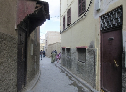 narrow passages in Fez Medina-UNESCO WHS. Morocco.