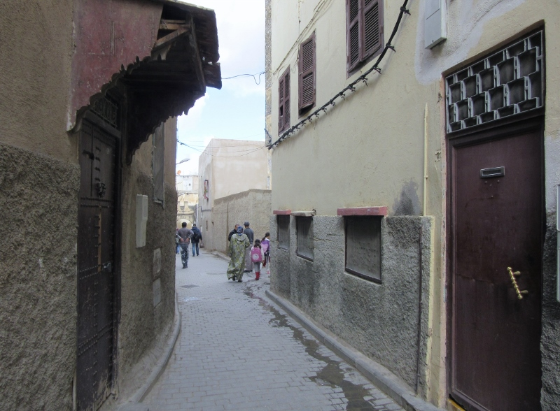 narrow passages in Medina-UNESCO WHS