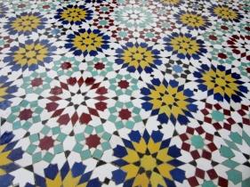 Mosaic tile, Fez, Morocco.