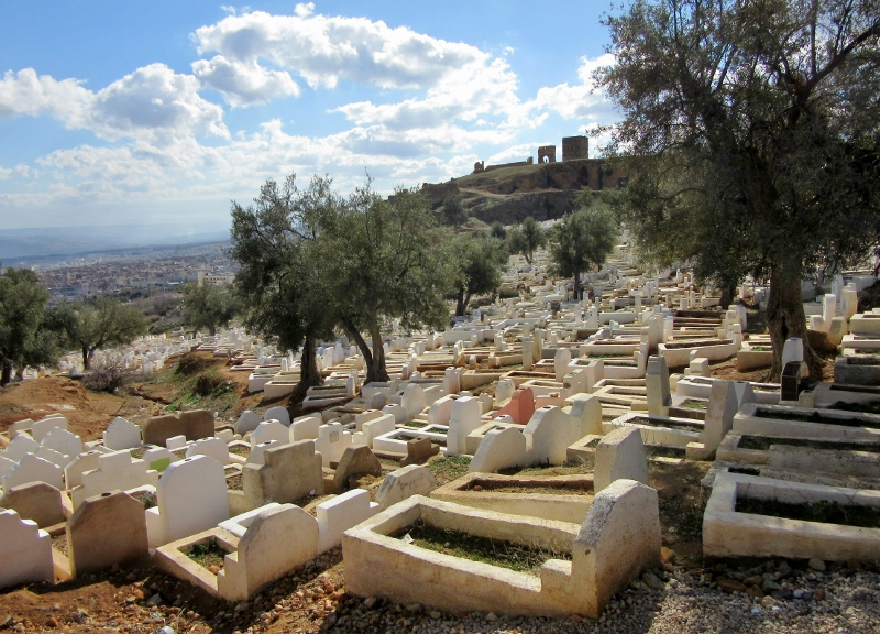 old cemetery overlooking Fes